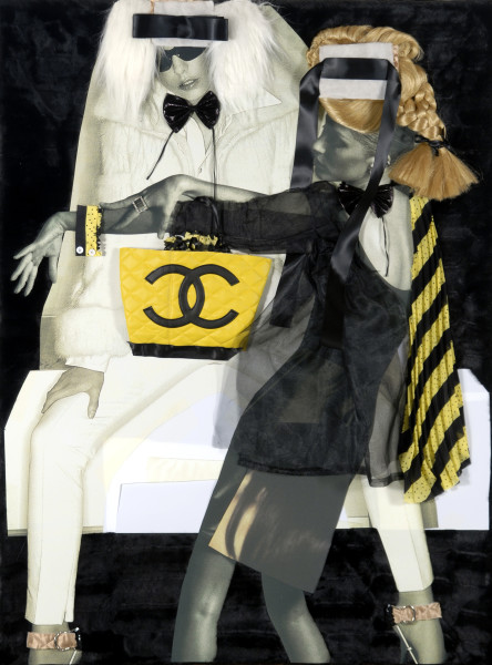 "Jacqueline Fraser ""Darling a cutsie little Tracey Emin Chanel hand-bag collaboration"", 2008; mixed media; 123 x 93.5 x 14 cm; Enquire"