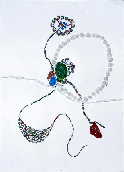 Rohan Wealleans Delicate Dance, 2006; paint on paper; 54.5 x 42 x 6 cm; framed dimensions; enquire