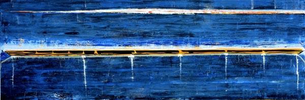 John Firth-Smith Lights, 2003; oil on linen; 4 x 12ft; enquire