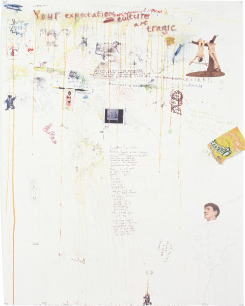 Jake & Dinos Chapman Excess Energy Expenditure Page, 1996; mixed media on paper; 153 x 123 cm; enquire