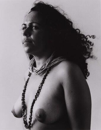Fiona Foley Badtjala Woman A, 1994; Set of 3 images; Sepia Photograph; 45 x 35 cm; Edition of 10; enquire