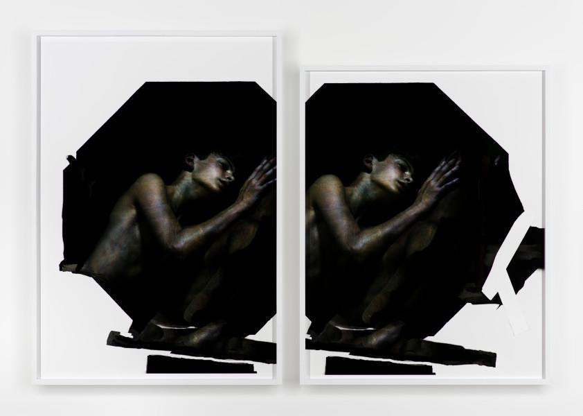 Bill Henson Untitled, 2017-18; LS-HW SH98 N21; collaged archival inkjet pigment prints; dyptich: 184.5 x 131 x 6.5cm; 166.5 x 131 x 6.5cm; Enquire
