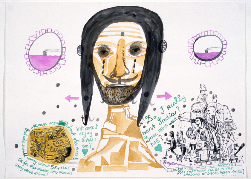 Gareth Sansom God, 1989; watercolour and ink on paper; 56 x 76 cm; enquire