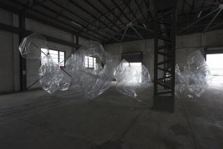 installation view; Mikala Dwyer The Hollows, 2014; PETG; dimensions variable; enquire