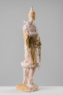 Linda Marrinon Poiret in fancy dress 1914, 2020; terracotta and plaster; 84 x 20 x 21 cm; enquire
