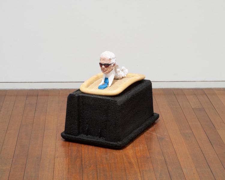 Hany Armanious Sphinx, 2009; shredded rubber, cast pigmented polyurethane resin, gouache; 54 x 42 x 66 cm; enquire