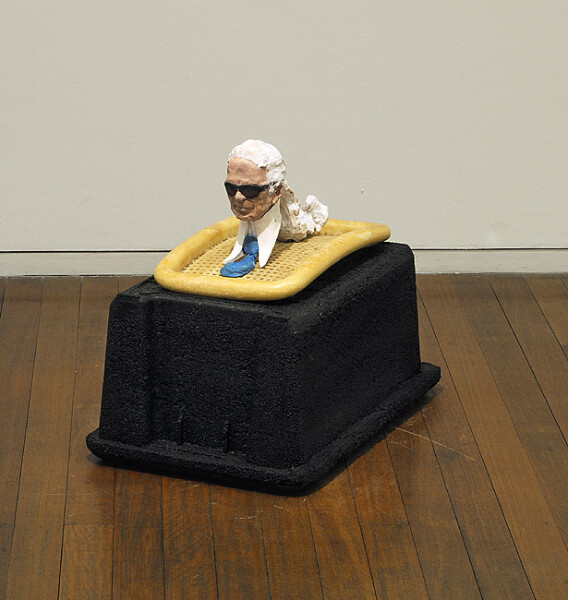 Hany Armanious Sphinx, 2009; shredded rubber, cast pigmented polyurethane resin, gouache; 54 x 42 x 66 cm; enquire