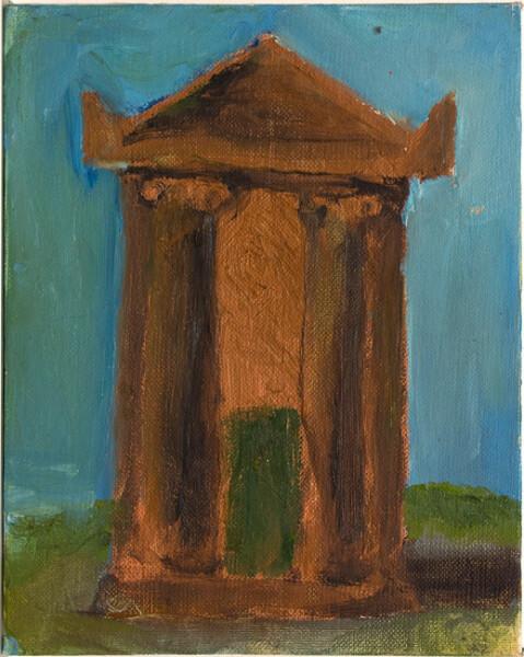 Tony Clark Tomb, 1982; oil on canvas board; 25.4 x 20.3 cm; enquire