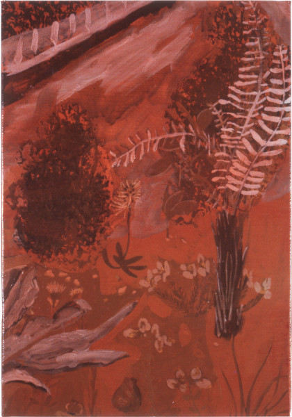 Geoff Lowe Naming II, 1987; acrylic on linen; 51 x 35 cm; enquire