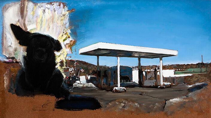 Louise Hearman Untitled #1307, 2009; oil on masonite; 52 x 91.5 cm; enquire