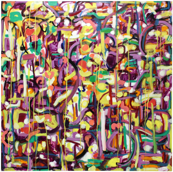 Angela Brennan Infinity plus Twelve, 2011; oil on linen; 153 x 153 cm; enquire