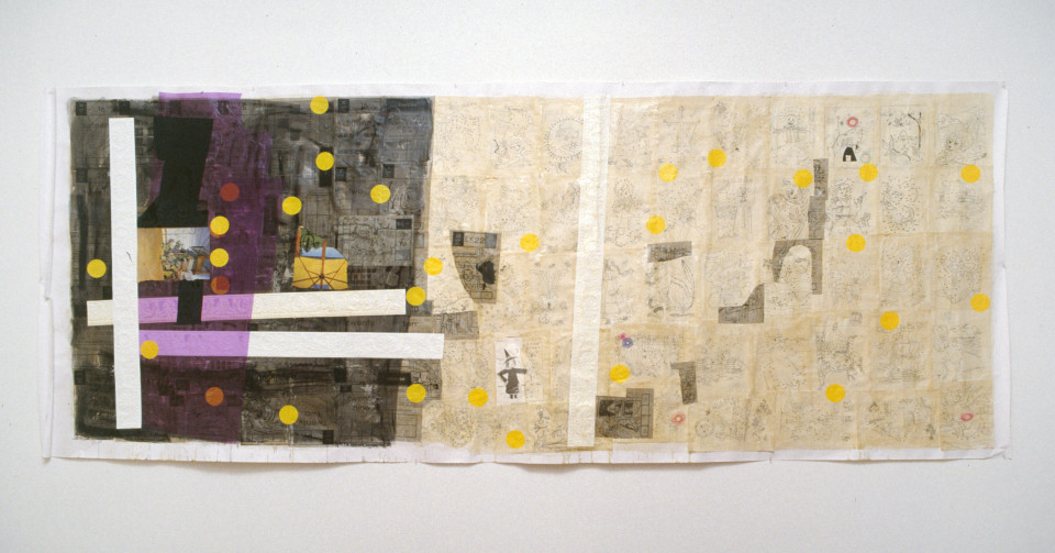 Dale Frank The Witch, 1992; mixed media on paper; 150 x 370 cm; enquire