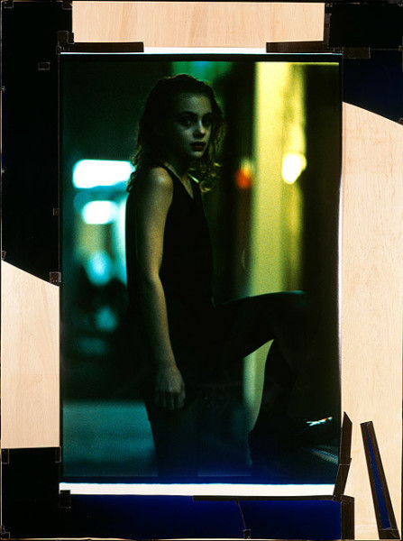 Bill Henson Untitled #14, 1987-88; CUT SCREENS; Photographic paper, 'Gaffer' tape and tacks on marine plywood; 224 x 180 cm; Edition of 3; enquire