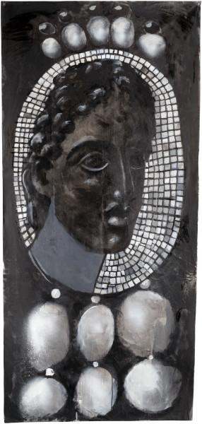 Tony Clark Design for a Portrait Jewel (S.L), 2015; acrylic on canvas; 163 x 77 cm; enquire
