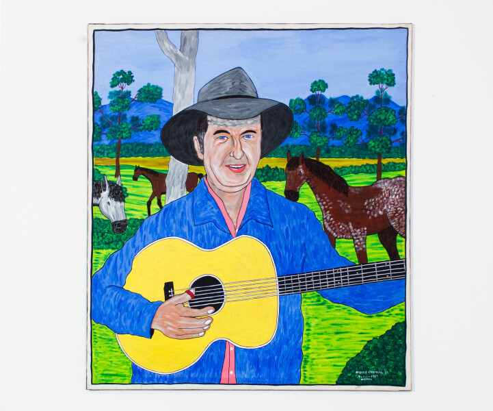 Robert Campbell Jnr Slim Dusty, 1988; 123 x 109 cm; enquire