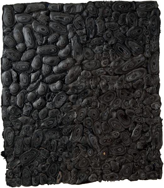 Rohan Wealleans Black Harvest, 2010; house paint on paper; 100 x 69 cm; enquire