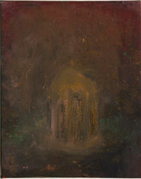 Tony Clark Temple of the Winds, 1982; oil on canvas board; 20.3 x 25.4 cm; enquire