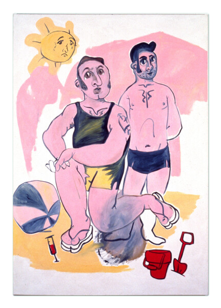 Linda Marrinon Bad Boys By The Beach, 1990; oil on canvas; 213 x 152 cm; enquire