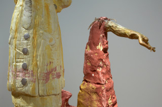 Linda Marrinon Woman of Albert, France 1916 (detail), 2019; painted plaster; 150 x 103 x 62 cm; enquire