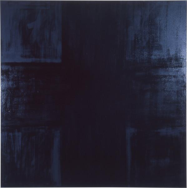 Lindy Lee Untitled, 1986; oils on canvas; 152 x 152 cm; enquire
