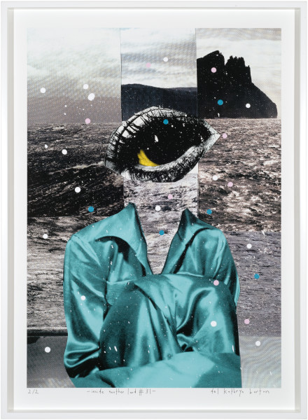 Del Kathryn Barton inside another land #31, 2016; acrylic and archival pigment ink on rag; 96 x 70 cm; (framed) Image size:  90  x 64cm; Edition of 2 + AP 1; enquire