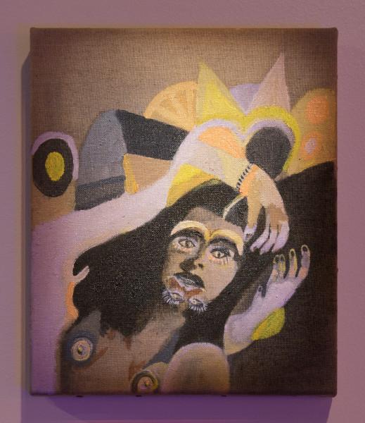 Sarah  Contos Self Portrait ( as Frances Farmer after Nirvana), 2009-14; oil on linen; enquire