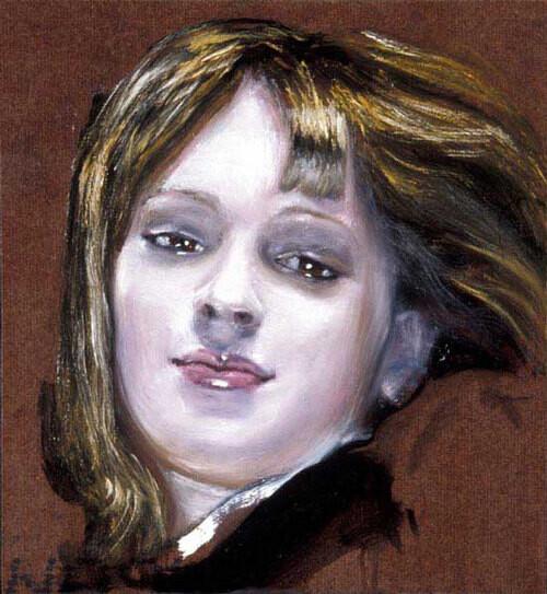 Louise Hearman Untitled #  1026, 2003; oil on masonite; 33 x 31 cm; enquire
