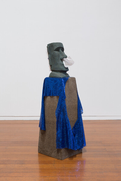 Mikala Dwyer Sad, 2018; fibreglass, tissue box, fabric; 100 x 30 x 35 cm; enquire