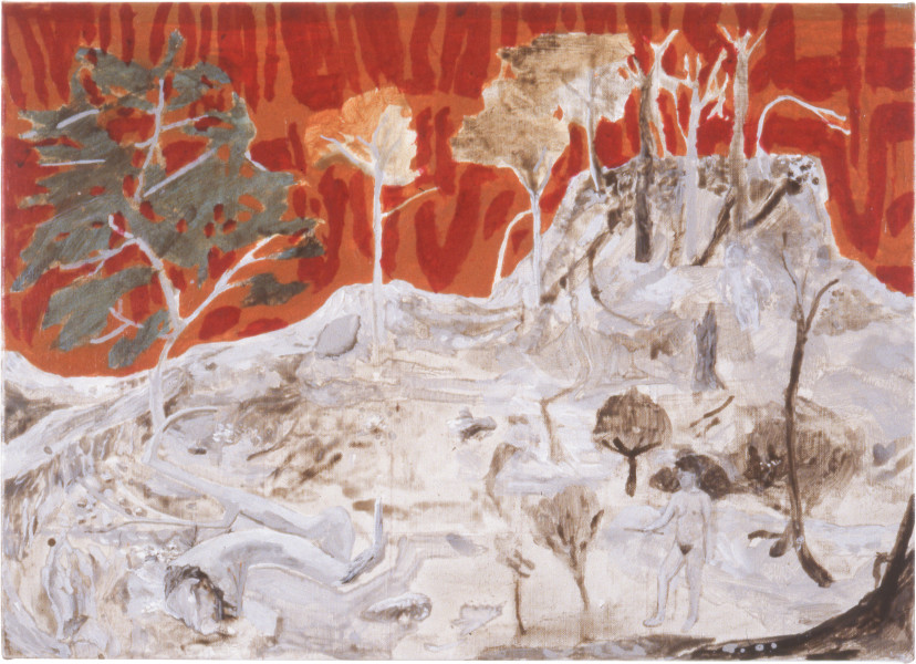 Geoff Lowe Nature III, 1988; synthetic polymer paint on linen; 38 x 54 cm; enquire