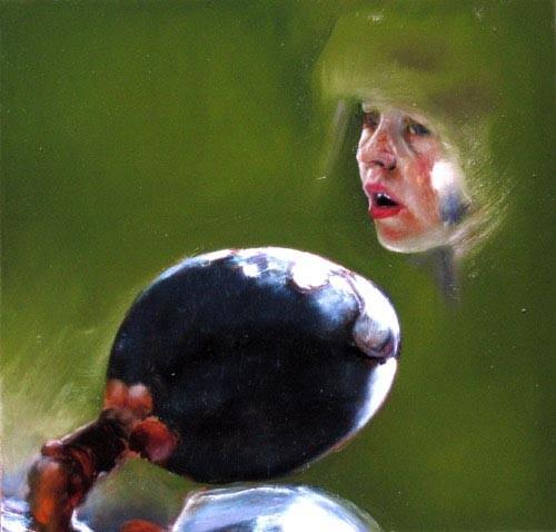 Louise Hearman Untitled #1160, 2005; oil on masonite; 40 x 42 cm; enquire