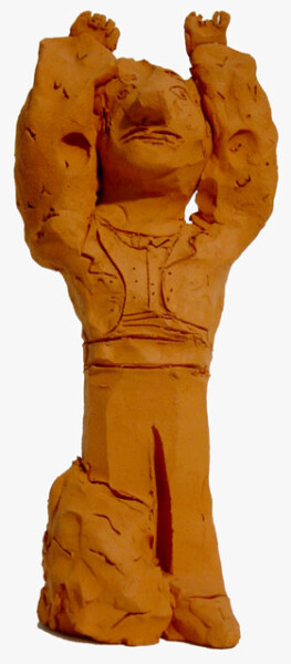 Linda Marrinon Man with Bolero, 1999; Terracotta; 28 x 12 x 7 cm; enquire