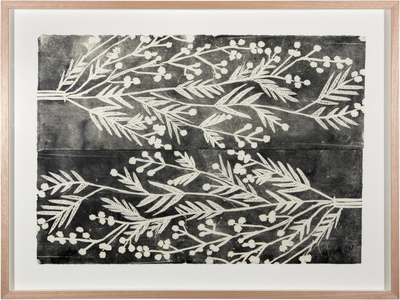 Mulkun Wirrpanda Bundjungu, 2015; relief print on mulberry paper; Edition of 25; enquire