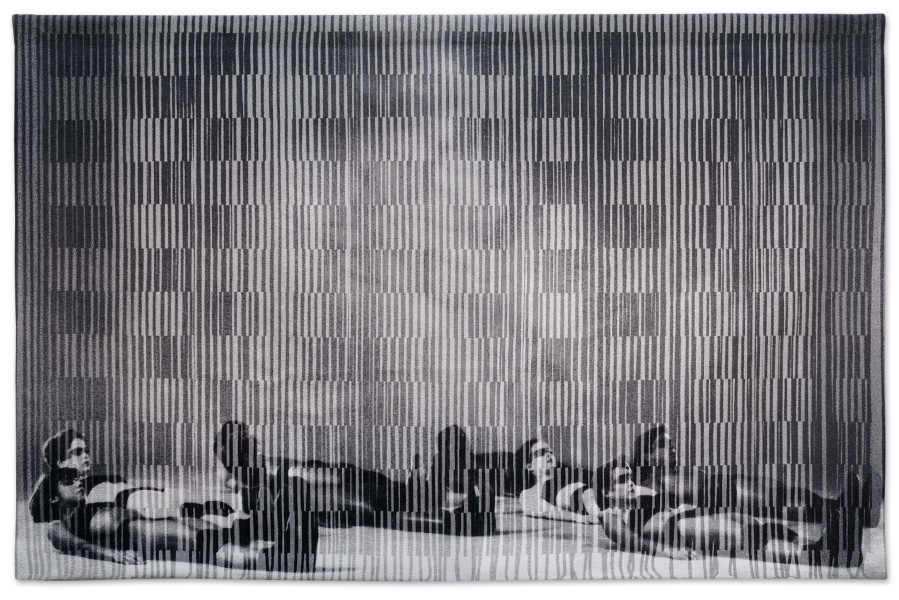 David Noonan Untitled, 2019; jacquard tapestry, unique, stainless steel hanging system; 190 x 300 cm; enquire