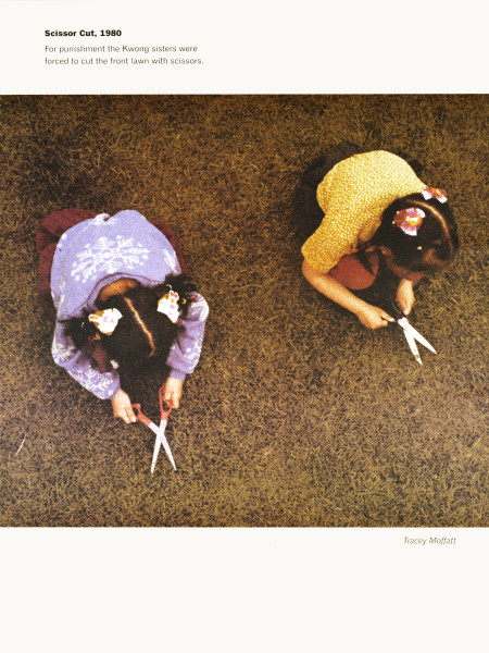 Tracey Moffatt Scissor Cut, 1980, 1999; from the series Scarred For Life II; offset lithograph; 80 x 60 cm; Edition of 60 + 10 APs; AUD 0.00; enquire