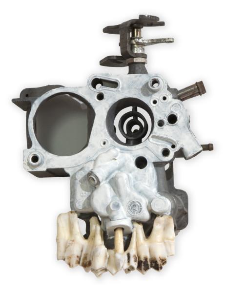 Fiona Hall Untitled, 2014; carburetor, deer teeth, paint; 20 x 15 x 8.5 cm; enquire