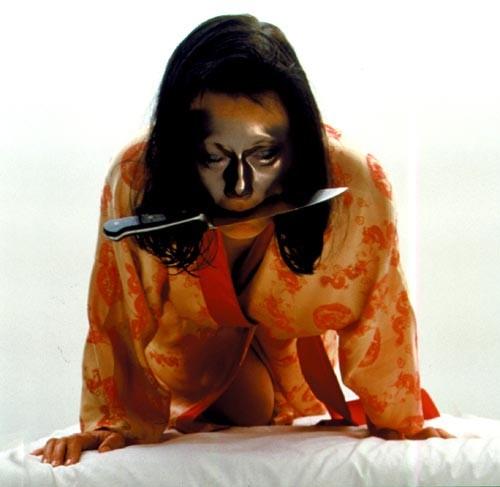 Julie Rrap Camouflage #4 (Eiko), 2000; type c colour photograph; 122 x 122 cm; Edition of 9; enquire