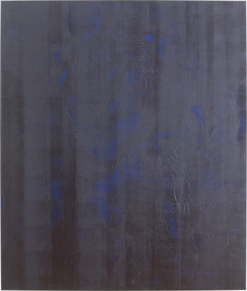 Lindy Lee The Imagined Disharmony of the Spheres, 1991; oils and wax on canvas; 195.5 x 164.5 cm; enquire