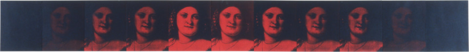 Lindy Lee Custom and Beauty, 1990; photocopy and acrylic on stonehenge paper; 27.5 x 247.5 cm; enquire