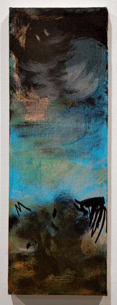 Tony Clark Four sections from Clark's Myriorama, 2013; acrylic and permanent marker ink on canvas; 30.5 x 10.5 cm; enquire