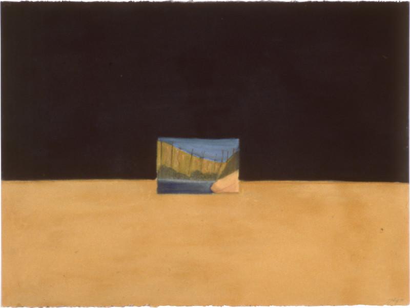 Fiona Foley Knife Blade Sandblow IV, 1990; pastel on paper; 57 x 76.5 cm; enquire