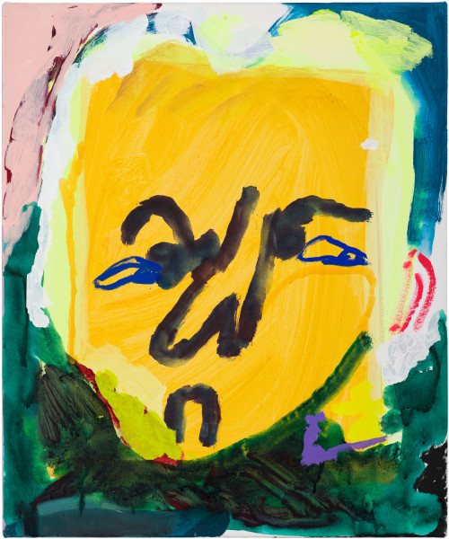 Tom Polo too many oh's, 2021; acrylic and Flashe on canvas; 60 x 50 cm; enquire