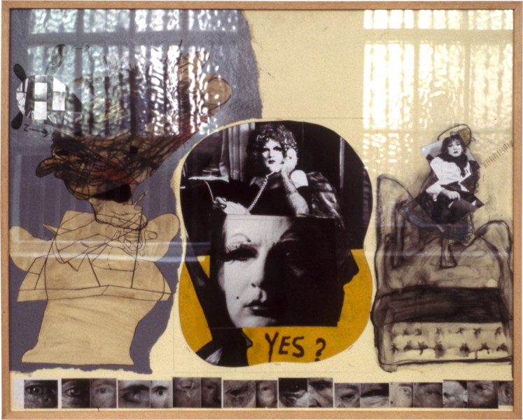 "Gareth Sansom ""YES?"", 1976; mixed media on cardboard; 82 x 102 cm; enquire"