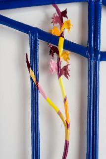 Caroline Rothwell Blue Cabinet, 2019; canvas, hydrostone, aluminium, steel, paint, epoxy glass; 175 x 102 x 5 cm; Enquire