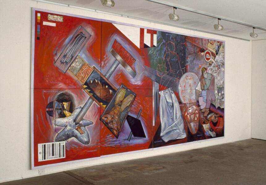 Juan Davila Neo-Pop, 1983-85; oil on canvas; 274 x 548 cm; enquire