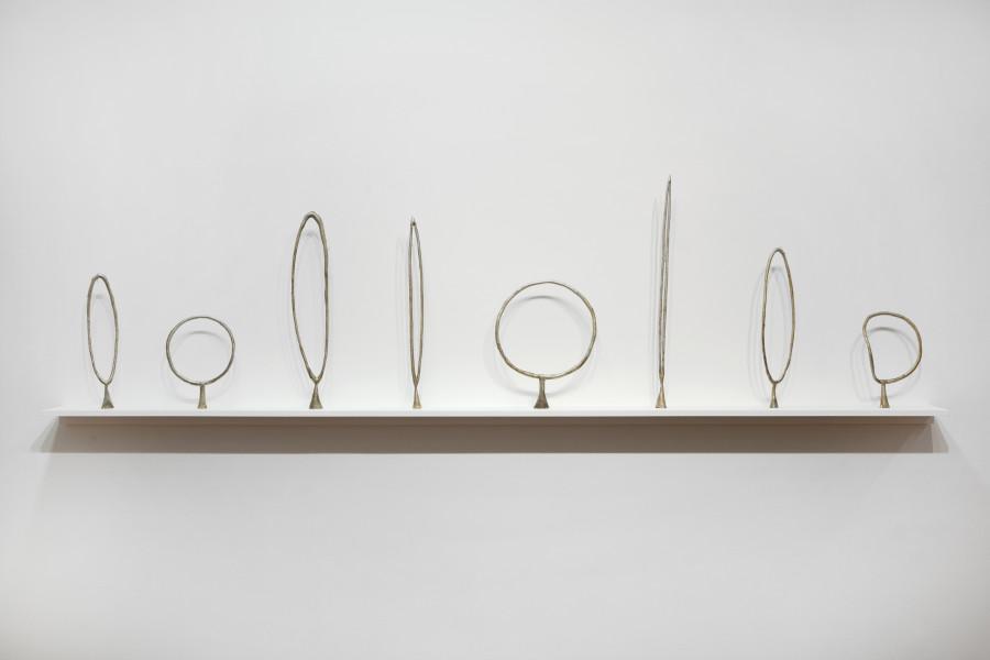 Caroline Rothwell Circles, 2014; Britannia metal; 80 x 310 x 19 cm; enquire