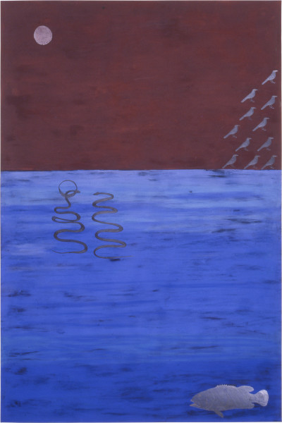 Fiona Foley 3 Symbolic Dreams, 1989; pastel, pencil, oil stick and ink on paper; 152 x 102 cm; enquire
