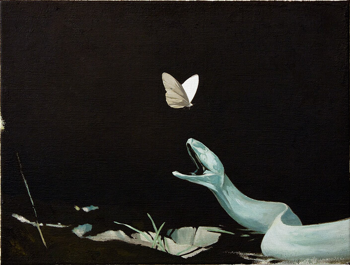 Glenn Sorensen Will She (For Claries Beckett), 2011; oil on canvas; 30 x 40 cm; enquire