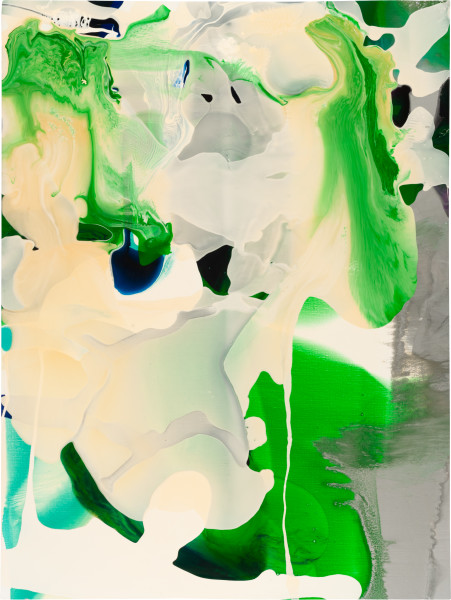 Dale Frank 27. He could not really remember what the other one looked like, did he have bleached hair, or was that himself., 2009; varnish on canvas; 120 x 160 cm; enquire