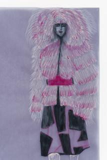 Jacqueline Fraser DON'T MENTION DEATH > (detail), 2004; aquarelle on French claque paper; 30 x 21 cm; enquire