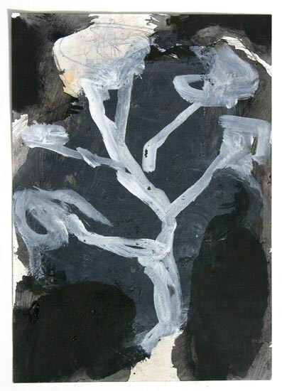 Newell Harry Untitled, 2006; gesso, pencil and oil stick on ironed Fabriano paper; 30 x 21 cm; enquire